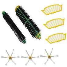 8 Ppcs side brush + filter kit  for Irobot Roomba 500 527 528 530 532 535 540 555 560 562 570 572 580 581 590 replacement