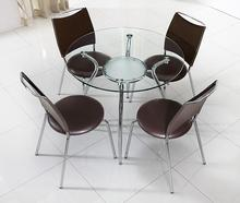 Toughened glass talks about table and chair. Training round table for visitors(China)