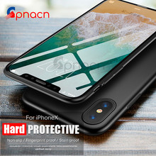 Premium Shockproof Cover Case for iPhone X 8 7 6 6S Plus Plating PC Armor Protection Matte Hard shell for iPhone X Case Capa(China)