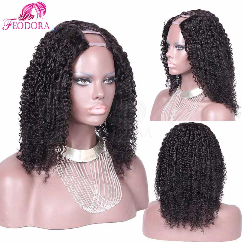 For Black Women U Part Human Hair Wigs Hot Sale Kinky Curly Unprocessed Virgin U Part Wigs Humanwigs In Stock 7A U Part Wig<br><br>Aliexpress