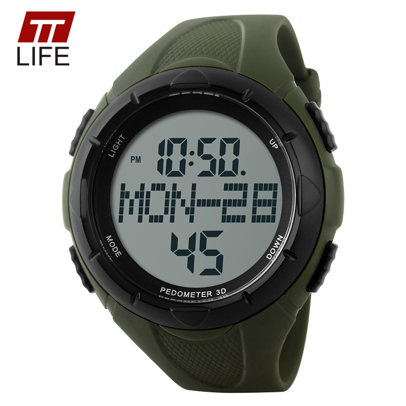 New TTLIFE Luxury Brand Men Military fashion Sports Watches Digital LED pedometer calories Wristwatches rubber strap<br><br>Aliexpress