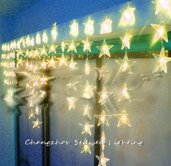 GREAT!Showcase decoration entrance decoration 90pcs five pointed star bead curtain lamp H184<br>
