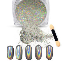 New 1g/Box Shiny Laser Nail Holographic Powder Rainbow Nails Glitter Dust Chrome Pigment Manicure Pigments Nails Art Decorations