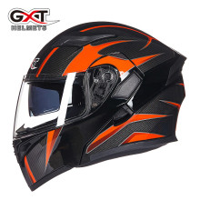 Hot sale GXT 902 Motorcycle Flip Up Helmet Modular casque moto cycling helmets black Sun Visor Safety Double Lens Racing helmet(China)