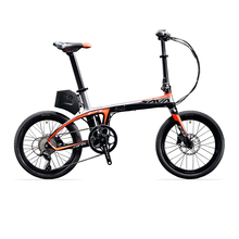 "SAVA E6 Electric Bicycle Carbon Fiber 20"" Folding ebike 36V/250W Pedelec Foldable SHIMANO 9S Bicycle with 5.8Ah SAMSUNG Battery(China)"