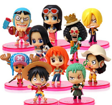 Anime One Piece Two Year Later Figures Luffy Tony Tony Chopper Sanji Nami Robin Model Doll Figure Toys 10pcs/set Free Shipping