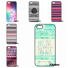 For iPhone 4 4S 5 5C SE 6 6S 7 Plus Samsung Galaxy Grand Core Prime Alpha Aztec Hakuna Matata Water Mint Arrow Phone Case Capa