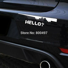 10 x Newest Creative Car Styling Peering Say Hello Car Stickers Car Decal for Toyota Chevrolet Honda Volkswagen Hyundai Kia Lada(China)