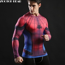 2017 TOP sale Mens Boys Compression Armour Base Layer Long Sleeve Thermal Under Top Tee Shirt New T shirt Fitness T-shirt(China)