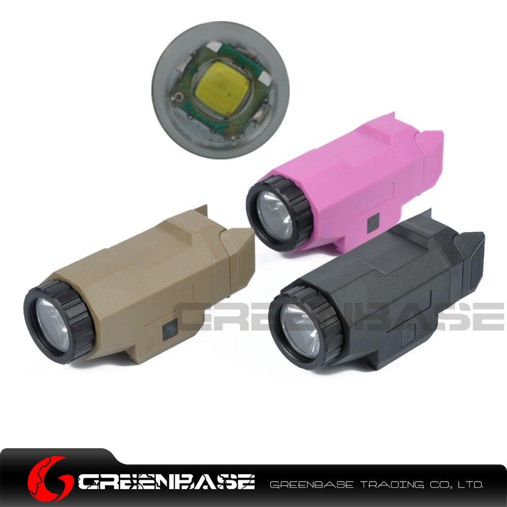 Greenbase Tactical Weapon Light APL Pistol Light Night Evolution Inforce Tactical Flashlight For Hunting Black/Pink/Dark Earth<br>