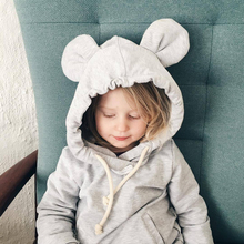 1-5Yrs Children Hooded Sweatshirt Boys Cute Bear Ears Animal Hoodies Unisex Kids Clothing Girls Tops Coats Baby Casual Outwear(China)