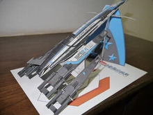 Mass Effect SR2 Airship helicopter 3D Paper Model(China)