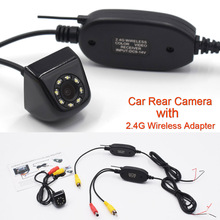 New Classic CCD HD Car Rear View Camera Wide Angle Waterproof 8 LED with 2.4G Wireless Transmitter Receiver Module adapter