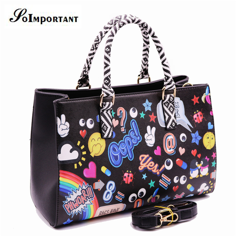 BAO BAO Handbag Women Leather Bag Women Fashion Cartoon Casual Tote Crossbody Bag Female Anime Big Large Shoulder Bag Handtassen<br><br>Aliexpress