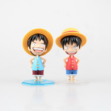 new 10cm  One Piece  POP Straw Hat Luffy  2 colors  can chance  action figure toys Wholesale
