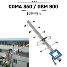 Outdoor Yagi Antenna 824mhz to 960hz GSM 850mhz 900mhz Mobile Phone Signal Antenna 8dBi External Cellphone Direction Antenna