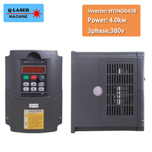 380v 4kw VFD Variable Frequency Drive VFD Inverter 3HP Input 3HP Output Frequency inverter spindle motor speed control(China)
