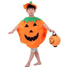 Funny pumpkin orange cloak clothes Trick Toy for Kid's children girl boy April fool's day halloween party favor decoration