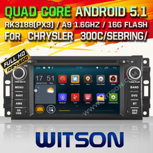 WITSON Android 5.1 CAR DVD RADIO for CHRYSLER JEEP DODGE Capacitive touch screen DVD GPS RADIO Cortex A9 Qual-core1.6G 16GB Rom