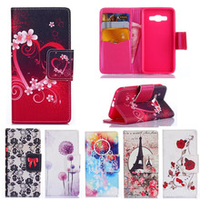 For Samsung Galaxy J1 Ace Case 16 Designs With Card Slot Holder Flip Wallet Cases Bags Skin Covers For Samsung J1 Ace J110 Cover