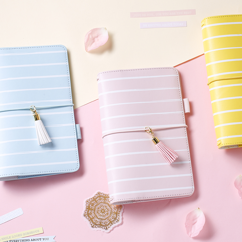 Lovedoki 2017 Presell Travel Journal Notebook Diary  Blue Pink Yellow Bind Dokibook <br>