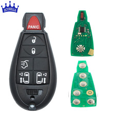 Replacement 5+1 buttons Smart Keyless Entry Remote key 6 Buttons 433MHZ ID46 Chip for Dodge(China)