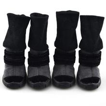3 in 1 Cotton Puppy Pets Dog Cat Winter Trendy Warm Snow Boots Anti-slip Sneakers Sports Shoes Dog Shoes