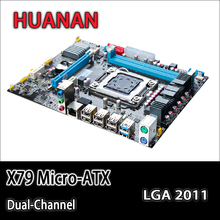 For intel HUANAN X79 motherboard micro-ATX X79 LGA 2011 motherboard mainboard support REG ECC 2 double channels 3 years warranty(China)