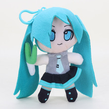 20pcs/lot 6.2'' 16cm VOCALOID Japan Anime Hatsune Miku Smiling Plush Toy Doll Pendant with hook love small gifts(China)