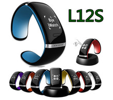L12M L12S OLED Smart Watch and Sports Pedometer Bluetooth 4.1 Bracelet with Call ID Display with Speaker