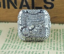 rhodium plated replica 2008 Detroit Red Wings Stanley Cup Hockey Championship Ring Sz 11(China)