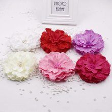 10pcs/lot 13CM artificial silk DIY large peony flower headdress flower photography props floral decorative clothing(China)