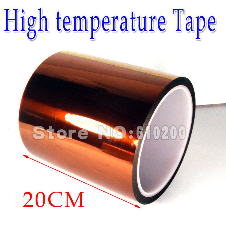 Free Shipping 200MM*33M Gold BGA Tape,PCB tape, Thermal Insulation Tape, High Temperature Resistant Tape<br>