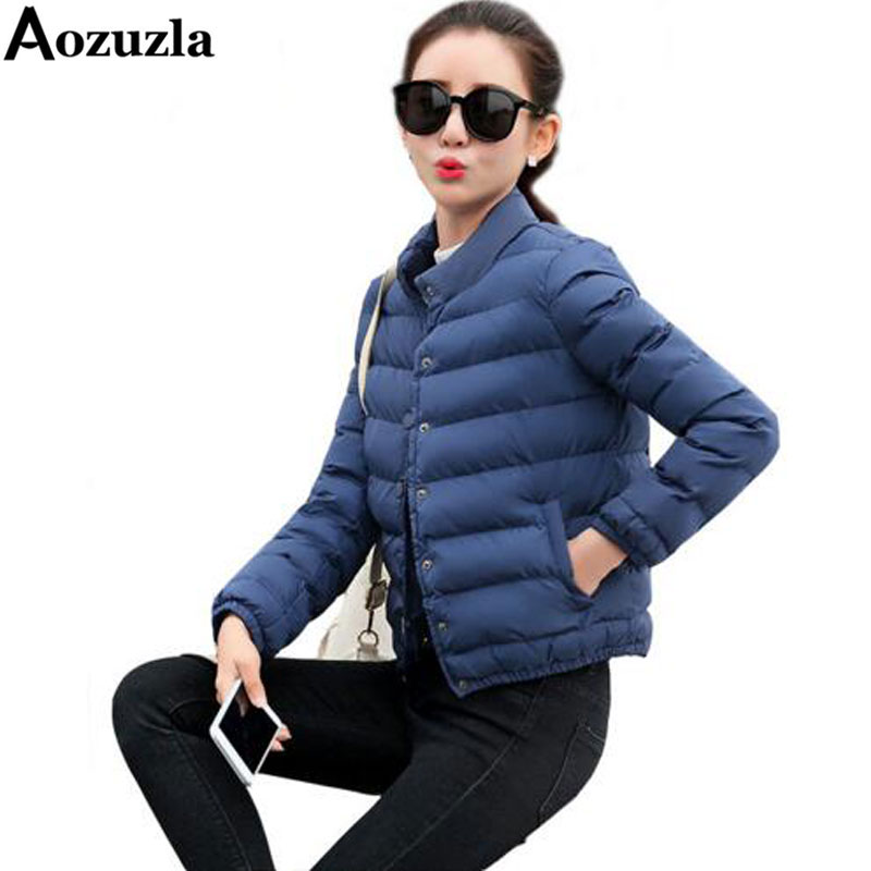 Cotton-padded Winter Jacket Short Slim Stand Collar Female Outwear Coats New Brand Casual Long Sleeve Women Jackets And CoatsОдежда и ак�е��уары<br><br><br>Aliexpress