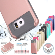 For Samsung Galaxy S7 Edge Case Silicone Hybrid Tough Armor Shockproof Hard Plastic Phone Cases Covers for S6 Edge S7 Edge