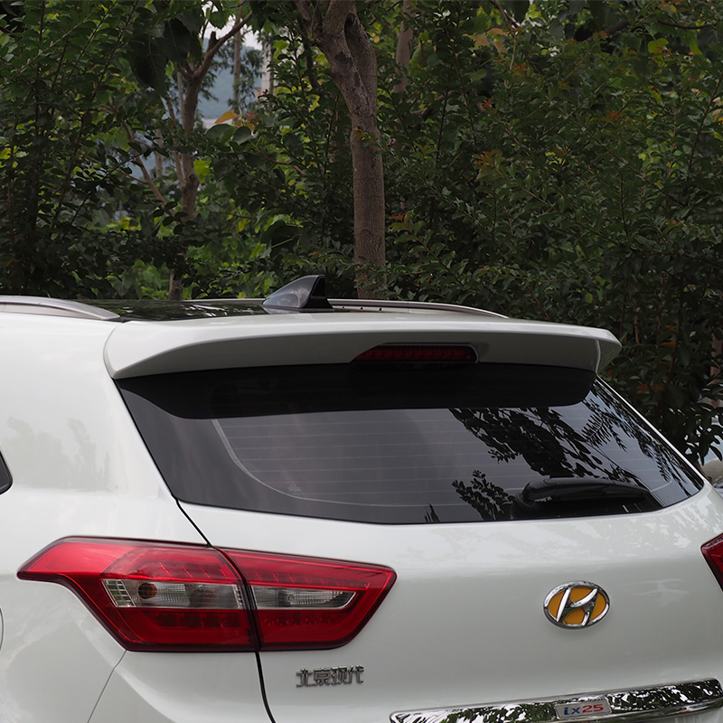 For Hyundai ix25 Creta 2014-2017 Rear Wing Spoiler, Trunk Boot Wings Spoilers paint ABS 3m Paste EMS transport<br><br>Aliexpress