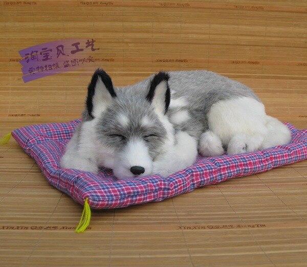 big simulation dog toy polyethylene&amp;fur husky model gift about 37x23x14cm 17<br><br>Aliexpress