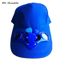Mr Hunkle 2017 Novelty Sun Solar Power Hat Cap with Cooling Fan for out door Golf Mountain Climbing Baseball Hats(China)