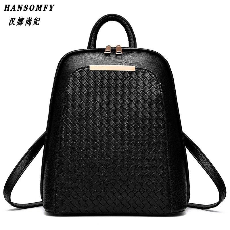 HNSF 100% Genuine leather Women backpack 2017 New Tide female backpack spring summer students fashion casual Korean women bag<br>