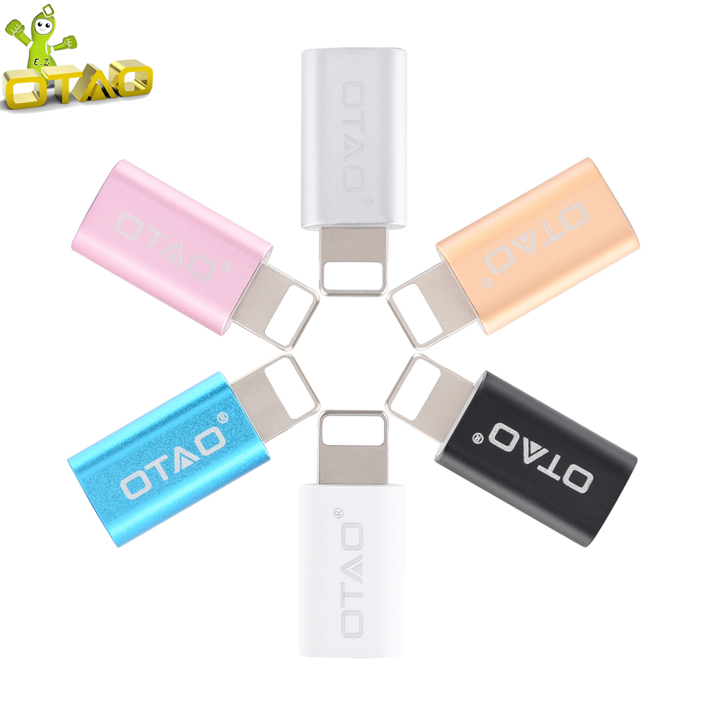 Portable Micro USB Data Charge Adapter Android Female to 8 pin male to micro usb Cable Connector For iPhone 5 6 plus for ipad(China (Mainland))