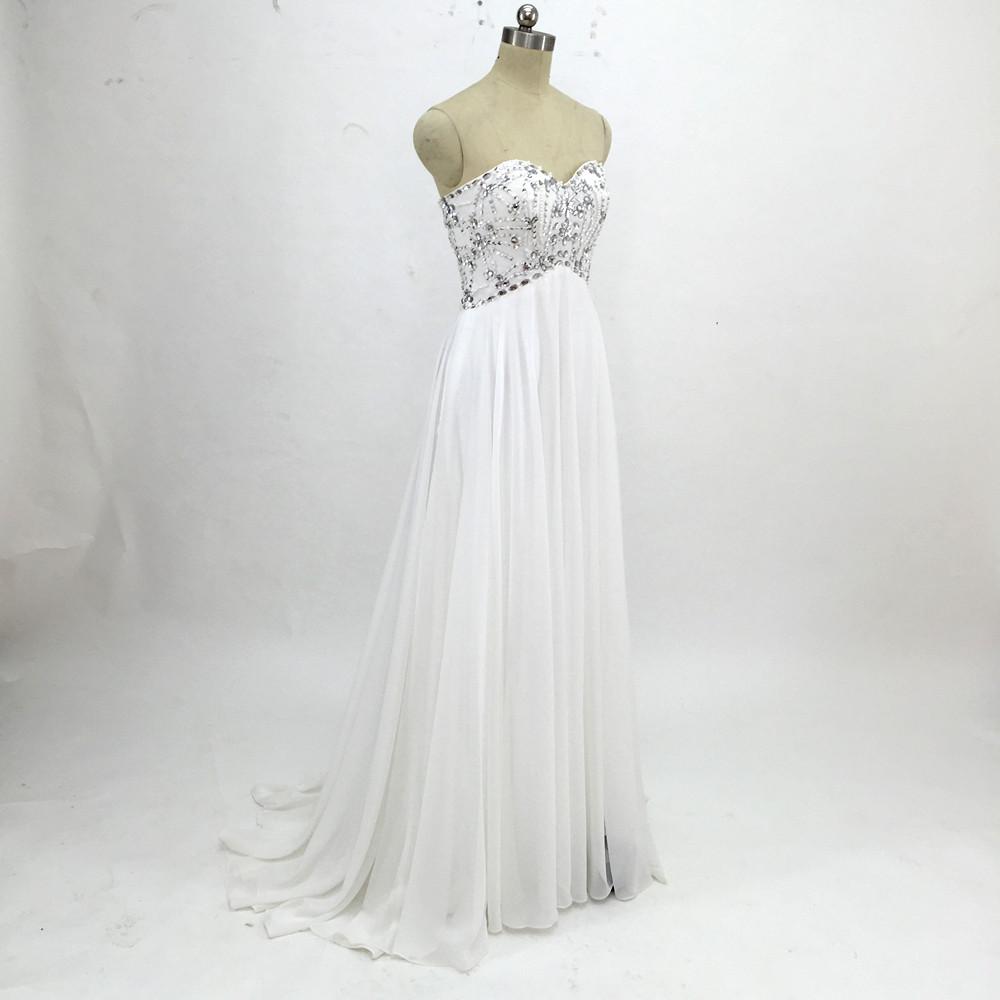 Sexy Chiffon A Line Beach Wedding Dresses Vintage Boho Cheap Bridal Gowns Vestidos De Novia Robe De Mariage Bridal Gown in stock 15