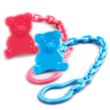 cute random color Baby multi-functional fixed Nipple clip plastic infant Anti-drop teether chain Portable Pacifier Holder Chain