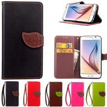 S6 Luxury Leather Flip Cell Phone Case For Samsung Galaxy S6 Case G9200 with card holder wallet cover case for Samsung S6 Coque(China)