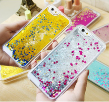 New Fashion Liquid Glitter Meteor Sand Mobile Phone Cases For iphone 5 5s SE  Sequins Dynamic Clear Hard Fundas Capa
