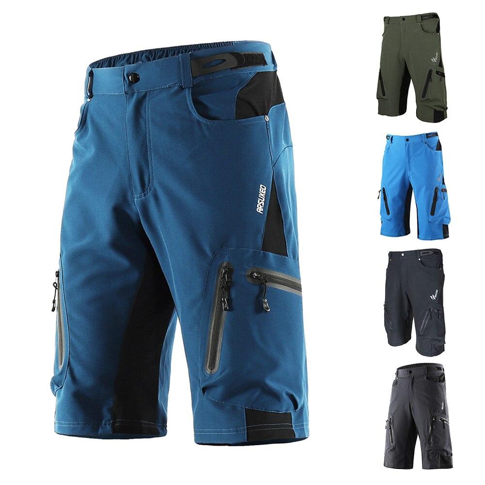 WOSAWE Mens Cycling 3D Padded Shorts Bike Riding Underwear Combo MTB Baggy Shorts
