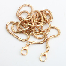 Hight Quality Pearl Metal Strap Handbag Snake Chain Handles Lantern Chain Shoulder Strap Purse Strap Accessories Bag Hardware(China)