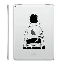"Sasuke Back Laptop Decal for iPad Decal Air 9.7"" / mini 7.9"" / Pro 12.9"" Tablet PC Macbook Sticker Partial Naruto Notebook Skin"