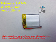 (free shipping) 602030 300 mah lithium-ion polymer battery quality goods quality of CE FCC ROHS certification authority