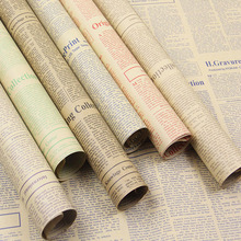 20sheets/lot Gift Wrapping Paper Roll Vintage Newspaper Double Sided Wrap Decor Art Kraft For Christmas Party Creative Material(China)