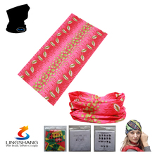 LST-32 lingshang 2016 hot shop elastic hair bands hair accessories wholesale hijab Multifunctional printing seamless bandana